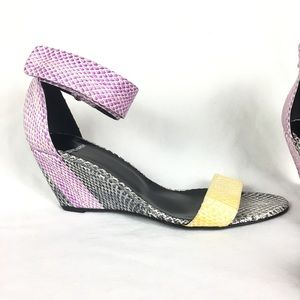 Pierre Hardy Shoes - Pierre Hardy Wedges Sandals Snakeskin Leather 41